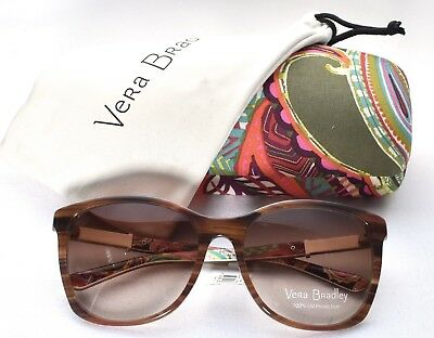 VERA BRADLEY Sabrina UV400 Heirloom Paisley Sunglasses 57-17-135 >NEW