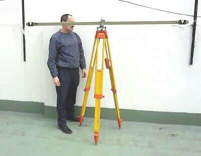 Very Rare Antique 84 Wild Heerbrugg Subtence Bar Staff To Use With Theodolite