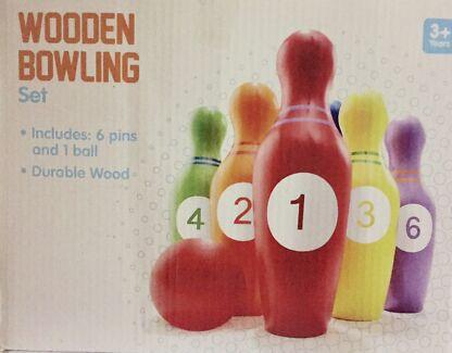 Timber bowling set