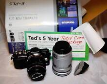 Olympus E-PL5 twin lens kit with extras and 2yrs Teds Warranty Ultimo Inner Sydney Preview