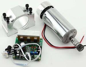 CNC Spindle Motor ER11 0.4KW & Mach3 PWM speed controller & Mount engraving Kit
