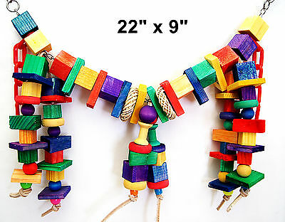 Funny Bridge pet bird toy parrot cage toys senegal mini macaw small cockatoo