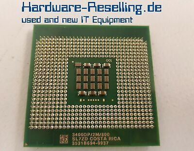 Intel Single (Intel Xeon 3400DP Single Core CPU 3,40 GHz2M/800  Sockel 604 - SL7ZD)