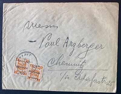 1921 Jaffa Palestine Cover To Chemnitz Germany