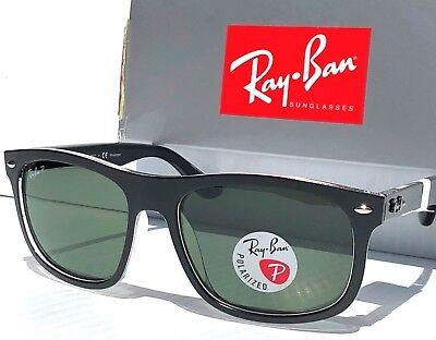 NEW* Ray Ban Wayfarer Matte Black POLARIZED Grey Green Sunglass RB 4226