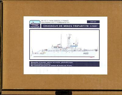 Larsenal Models 1 350 Tripartite Class Minesweeper Resin   Photo Etch Model
