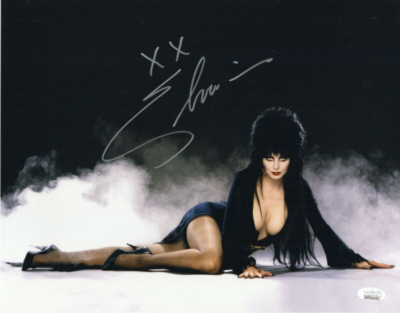 Elvira Autograph 11x14 Photo Mistress of Dark Signed JSA COA Z4