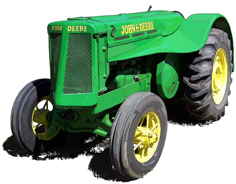 John Deere Model AO canvas art print by Richard Browne farm tractor