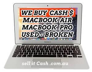 Wanted:  Macbook AIR , Macbook PRO  used or broken , WE BUY CASH Perth Perth City Area Preview