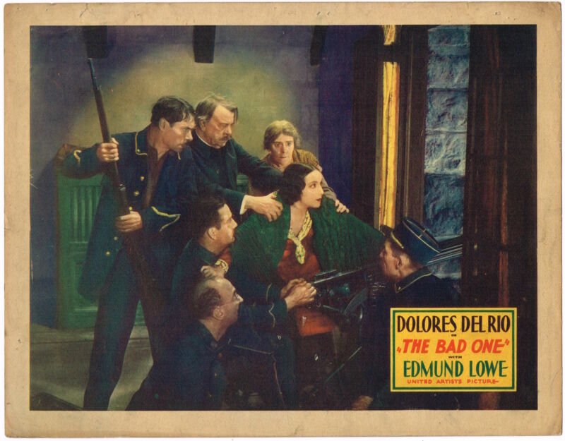 *THE BAD ONE (1930) Dolores Del Rio Early Sound Musical Lobby Card Dramatic!
