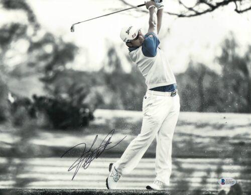 L@@K JAPAN HIDEKI MATSUYAMA SIGNED AUTO 11X14 PHOTO PGA TOUR BECKETT BAS COA 10