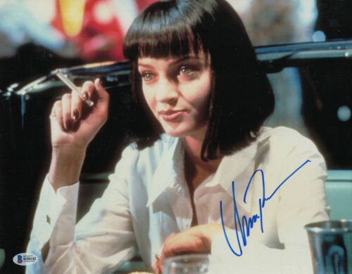 UMA THURMAN SIGNED PULP FICTION 11X14 PHOTO AUTOGRAPH BAS BECKETT COA 59