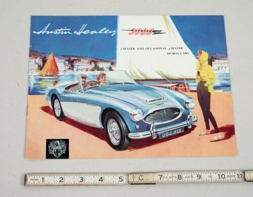 Vintage 1960s Austin Healey Dealer Sales Marketing Brochure Catalog Car Auto