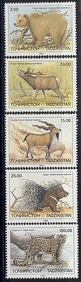 Tajikistan - 1993 MNH set of 5 wild life stamps 15-9  cv 3.80  Lot # 11