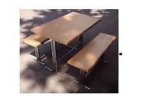 Garden table & 2 benches