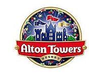 alton tower tickets 2 x 8/9/16