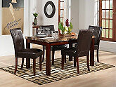 Marble and Cherry Wood DIning set