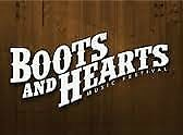 BOOTS AND HEARTS - 2 TICKETS AND 2 SHOWER PASSES