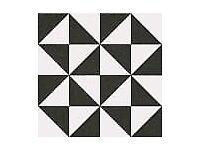 9 B & W Victorian style tiles 20 x 20 x 6 cm £1 each