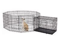 Large dog cage and pen and small cage
