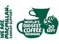 Macmillan coffee afternoon 30th sept 2-4.30pm