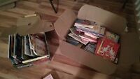 2 boxes of childrens books