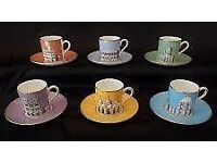 "Wedgwood ""Grand Tour "" Collection 6x Coffe cups,saucers, and side plates"