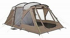 Outwell Carolina M Tent with carpet, additional footprint and side extension.