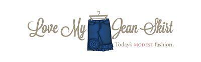 Love My Jean Skirt