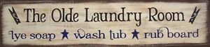 The Olde Laundry Room Rustic Primitive Country Sign Home Decor plaque