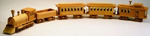BLUEPRINT / INSTRUCTIONS Detailed Toy Train Woodworking Blueprint Plan
