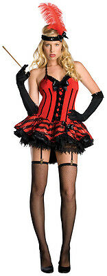 Cabaret 20's Flapper Red Burlesque Dancer Dress Up - 20 S Cabaret Kostüm