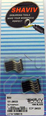 10pcs Type B30 Hss Right Hand Hooked Deburring Blades Shaviv 29023