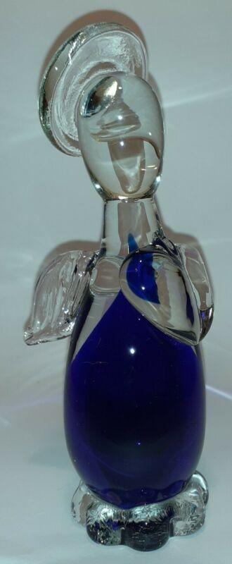 MURANO Cobalt Blue Glass Angel Hand Blown Figurine