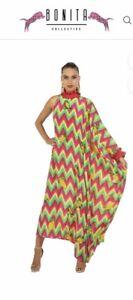 BNWT Bonita Collection Limone one sleeve dress