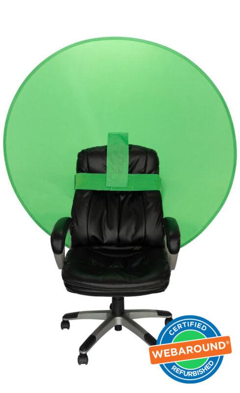 "Webaround 56"" Round Pop Up Chair Green Screen – Certified Refurbished"