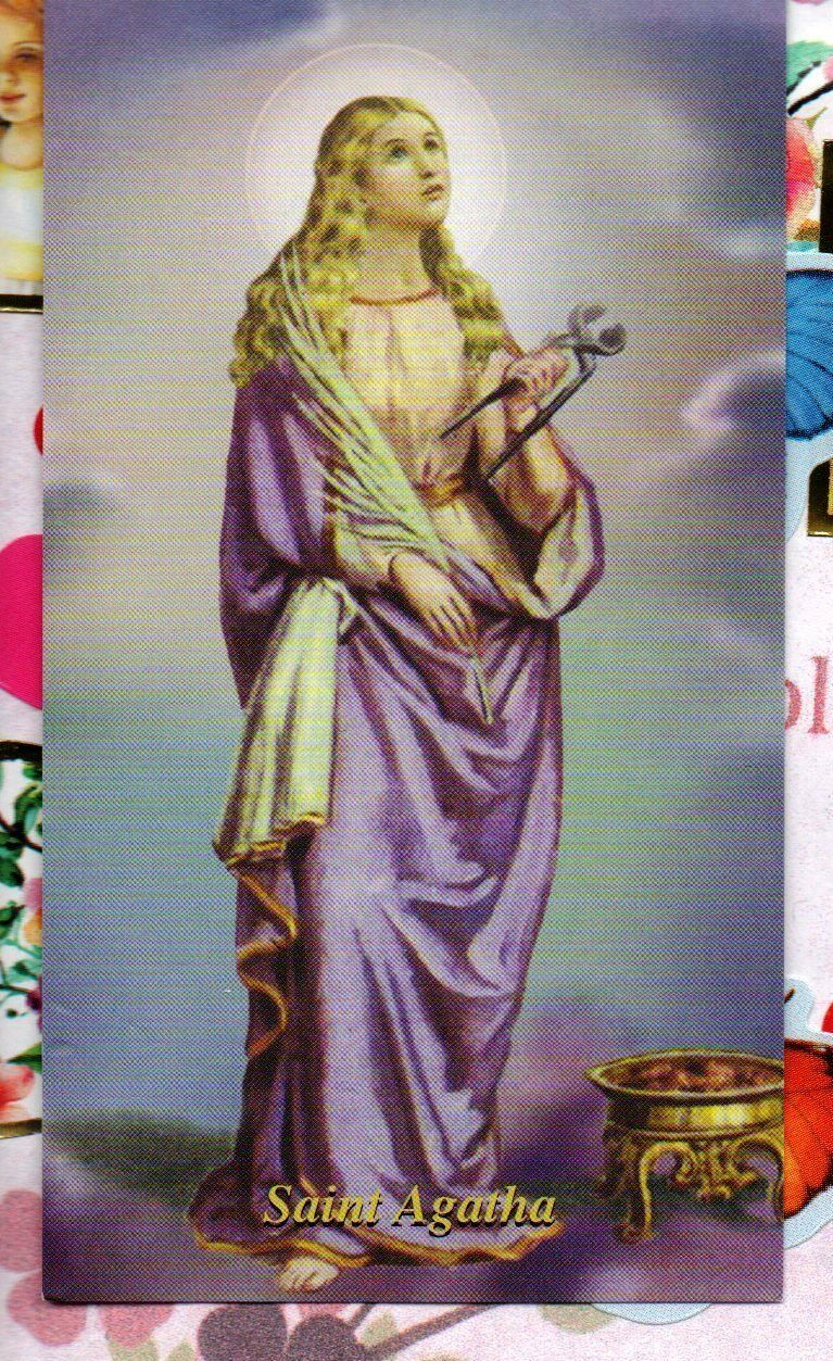 saint agatha singles St raphael may be the best known patron saint for singles this catholic dating site is under his patronage others are noted too, including st nicholas and st.