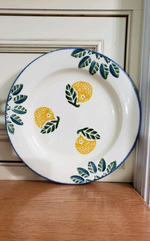 """EXC~Poole Pottery Dorset Fruits~*Oranges*~ Dinner Plate ~10-3/4"""" USA"""