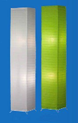 Stehlampe Papierlampe Standleuchte Leselampe Stehleuchte BAMBOO 1,30m grün #7132
