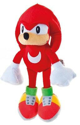 "NEW OFFICIAL 12"" KNUCKLES SOFT TOY PLUSH FRIEND OF SONIC THE HEDGEHOG AND TAILS"