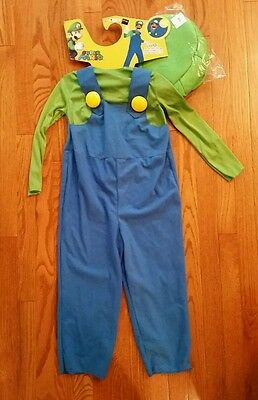 Luigi Costume Super Mario Brothers Bros Child Toddler Boys Halloween](Toddler Luigi Halloween Costume)
