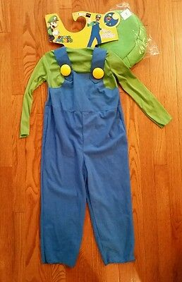 Luigi Costume Super Mario Brothers Bros Child Toddler Boys Halloween