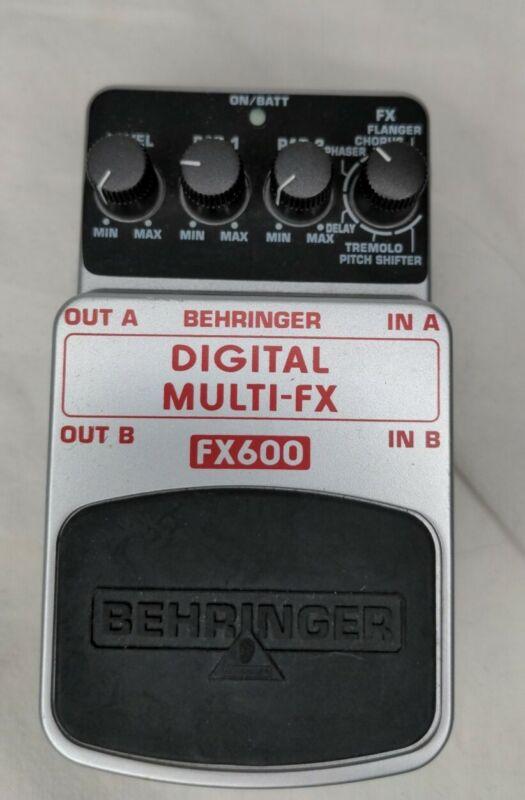 New Behringer Digital Multi-FX FX600 Multi-Effects Guitar Effect Pedal USA