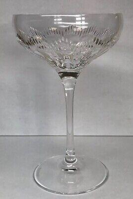 Vintage Waterford Tall Sherbet Champagne Pedestal Glass Elegant Bar Stemware ()