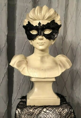 """Spooky Masquerade Bust Haunted House Halloween Prop Haunted Mansion Statue 14.5"""""""