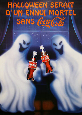 a Cola Poster French Halloween Ghosts c1995 Coca-Cola (Halloween Original-poster)