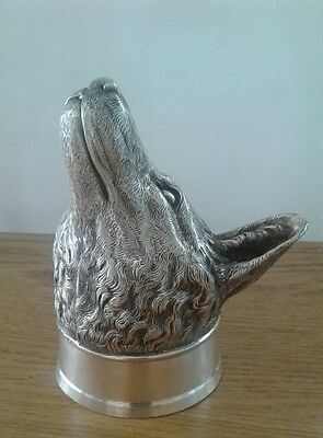 ANTIQUE 19thC RARE GEORGIAN SOLID SILVER FOX STIRRUP CUP, Paul Storr