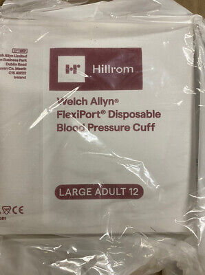 Welch Allyn Disposable Blood Pressure Cuff Large Adult 20 Cuffs