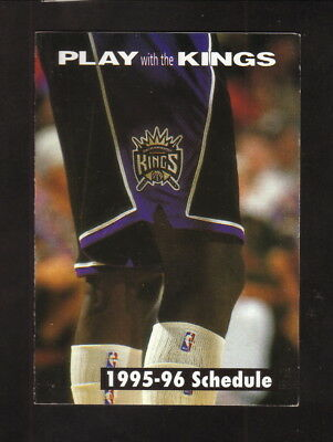Sacramento Kings  1995 96 Pocket Schedule  Southwest Air
