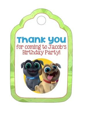 Personalized Custom Birthday Party Favor Tags. Puppy Dog Pals! w/ your name](Party Favor Tags)